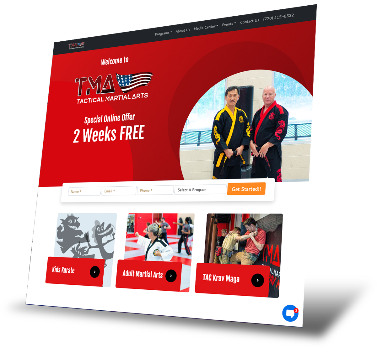 Tactical Martial Arts website home page